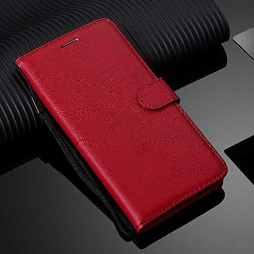 baizhi Umhängetasche PU-Leder-Brieftasche für SMG-Galaxie S3 S4 S5 S6 S7 Rand S8 S9 S10 E Plus Anmerkung 3 4 8 9 C9 Pro Telefongehäuse (Color : Red, Size : S9 Plus)