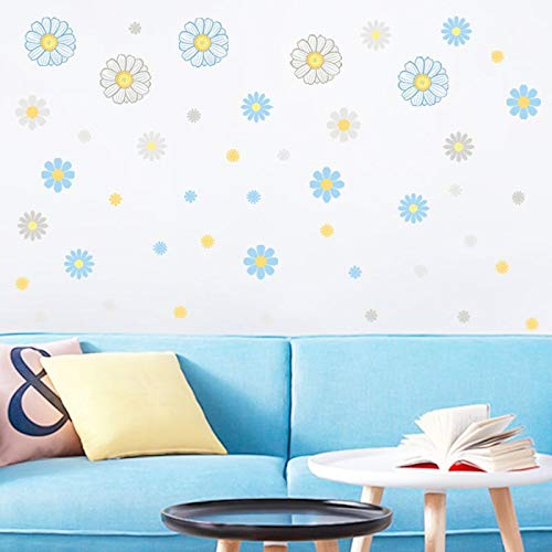 BLOUR Pegatina de Pared de Flor pequeña Fresca Grande para decoración de habitación Dormitorio Sala de Estar Sala de Estudio Infantil decoración de Oficina