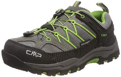 CMP Jungen Unisex-Kinder Kids Rigel Low Shoe Wp Trekking- & Wanderhalbschuhe, Grau (Tortora-Edera 16pc), 33 EU
