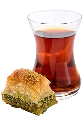 Turco Juego de té, té, taza de té, Ajda, 6vasos, Por Topkapi