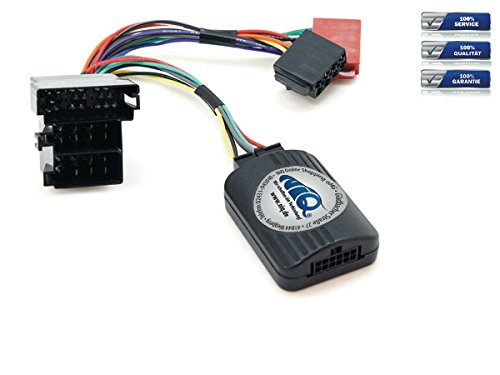 NIQ Lenkradfernbedienungsadapter geeignet für SONY Autoradios, kompatibel mit Peugeot 206 und 306