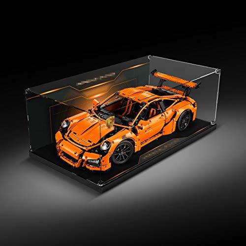 Elroy369Lion Placa de montaje de vitrina de acrílico transparente para Lego Technic 42056 – Porsche 911 GT3 RS – Vitrina protectora a prueba de polvo para Lego 42056