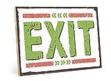Cartel de madera con texto 'EXIT' de estilo vintage con cita como regalo y decoración (tamaño:...