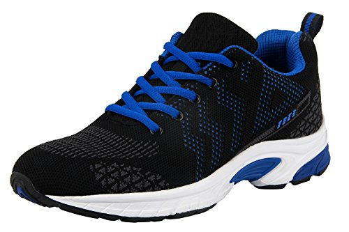 iloveSIA Men's Lightweight Leisure Outdoor Running and Walking Shoes FlyLeopard 2 Blue US 8.5