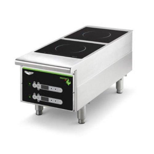 Vollrath 912HIDC placa de inducción de alta resistencia – 2 fuegos, digital