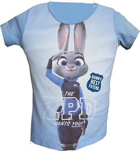 Disney Zoomania Kinder T-Shirt Zootopia 99231 (104, Bunny Best Friend)