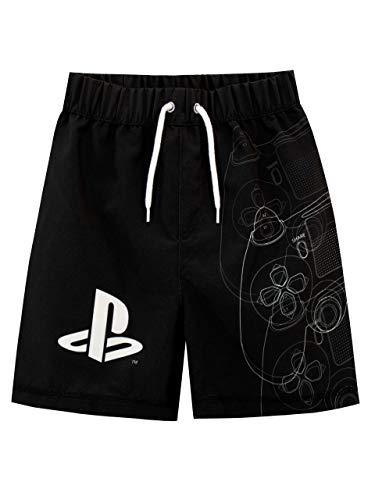 PlayStation Costume da Bagno per Ragazzi a Due Pezzi Nero 12-13 Anni
