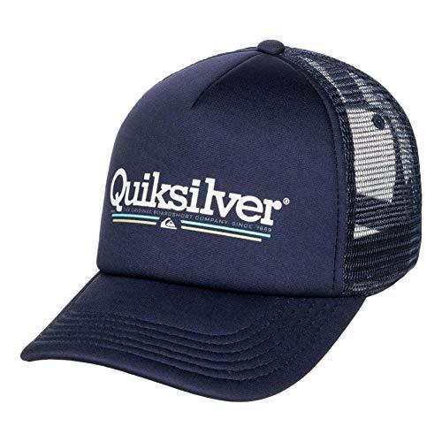 Quiksilver Filtration Trucker Snapback - Gorra para hombre, color azul parisino, talla única ajustable