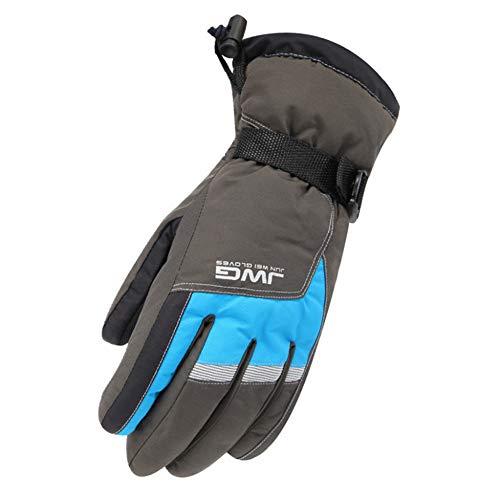 Para esquiar de invierno. Guantes de esquí para hombres Calidez impermeable Guantes de confort térmicos a prueba de viento para ciclismo de snowboard Guantes de esquí para deportes al aire libre