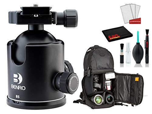 Benro B5 Triple Action Ball Head Bundle -DSLR Sling...