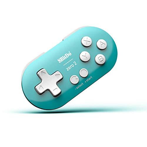 8bitdo ZERO ゲームパッド コントローラー android/macOS/windows/Nintendo Switch対応 ワイヤレBluetooth 4.0 スマホ タブレット用ゲームコントローラー ハンドルボックス iPad/Android各種ゲーム対応可能 荒野行動(ブルー)