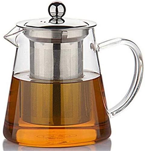 Bouilloire induction Théière de théière transparente Théière en verre de grande capacité Borosilicate de verre de thé en verre pour le thé et le café 550 ml pour le bureau de la maison extérieure WHLO