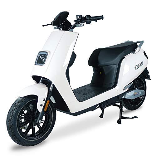 TiSTO - Monopattino elettrico Pegasus, 45 km/h, con molti extra, 3000 W, omologato per la circolazione su strada, scooter elettrico con portata di 60-70 km, bianco