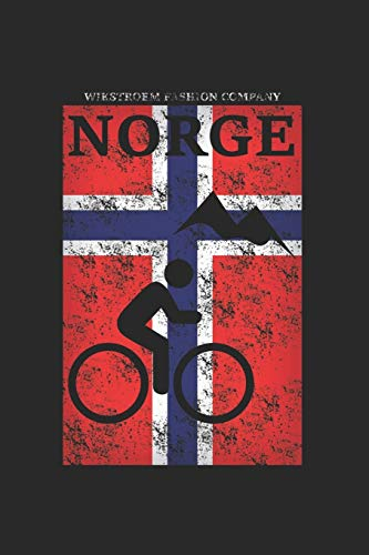 Wikstroem - Notes: Norwegen Berge Fahrrad Mountainbike used look - Notizbuch 15,24 x 22,86 Punktgitter