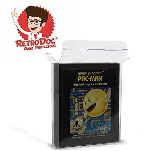20 Klarsicht Schutzhüllen für ATARI 2600/7800 Module Carts - Passgenau und Glasklar - PET - Retro-Doc Game Protectors – ATARI Modul - Extra Laschen - Extra Schutzfolie - Game Protectors