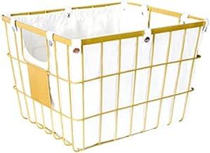 SKGOFGODcw Home Storage Bins Iron Storage Basket, Buckle Lining, Hollow Handle, Snacks, Sundries, Mask and Cosmetics Stora...