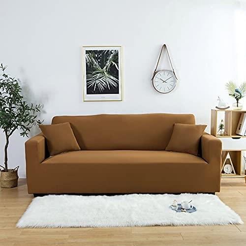 Puntos Blancos sobre Fondo Gris Funda de sofá Funda de sofá Impresa Fundas de Banco de poliéster Fundas elásticas para Muebles D5 4 Asientos 235-300cm-1pc