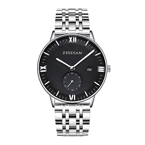 JYTFZD YANGHAO-Reloj de Pulsera- 2021 New Watch Reloj de Acero Luminoso a Prueba de Agua Reloj de Moda de Moda de Moda (Color: D) OUZDNSSB-5 (Color : D)