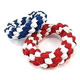 Haustier-Spielzeug YJ umsponnenes Baumwolseil Training Interactive Zahnpflege Kauartikel Spielzeug beissen, Größe: 10,5 x 3,0 m, zufällige Farbe Lieferung nett