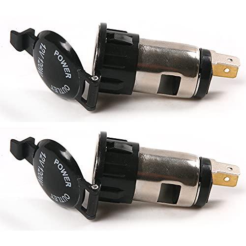 2PCS 12V Car Cigarette Cigar Lighter Socket Charger Power Supply Outlet Waterproof