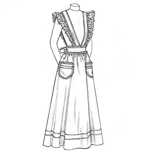 McCall 's Cosplay Damen Schnittmuster 2013historischen Knöchel Länge Lätzchen Schürzen mit Taschen