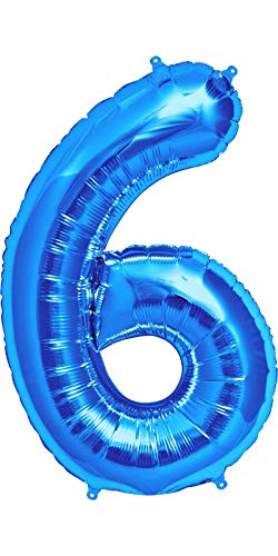 Dancing Queen Geburtstagszahlen Luftballon Zahl 6 Ballon XXL Ballons als Folienballons Zahlen Luftballon 6 Folienballon sechs Geburtstagszahlen zum Aufblasen als toller Helium Ballon XXL 100cm groß