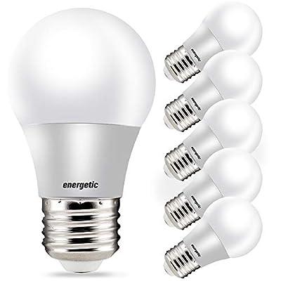 40 Watt Equivalent A15 LED Appliance Bulb, Daylight 5000K, Dimmable, A15 Refrigerator Bulbs, UL Listed, 6 Pack