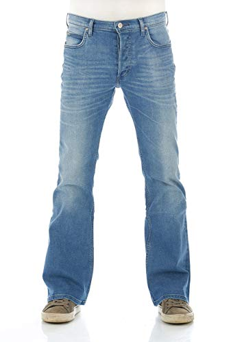 Lee Herren Jeans Jeanshose Denver Bootcut Stretch Denim Hose Baumwolle Blau Up Finish Bright Blue w30 - w44, Größe:W 34 L 32, Farbvariante:Up Finish (L716KIUP)