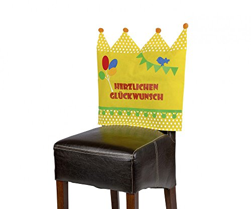 tib 15440 Geburtstags-Stuhlhussen mit Vliesstoff, Mehrfarbig, Einheitsgröße