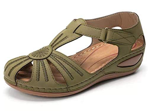 JSONA Platform Sandals Women Summer Heel Open Toe Wedge Sandals Summer Shoes with Buckles Elegant Sandals Platform Shoes