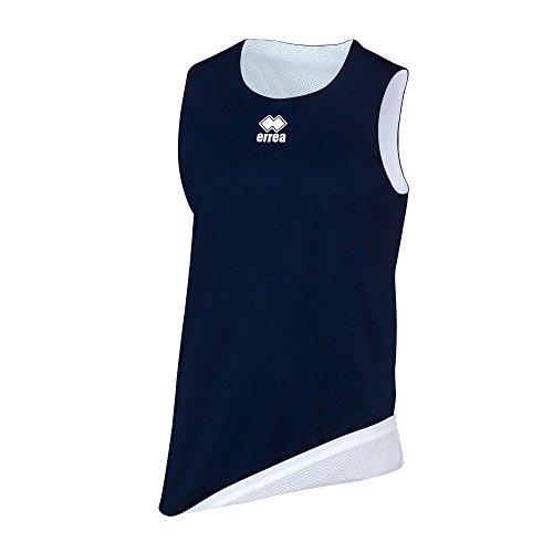 Errea Chicago Double, Camiseta Deportiva Unisex para niños, Unisex niños, Dm0Q1Z, BLU Bianco, XS