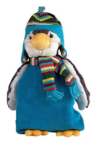 Wärmflasche Kinder XXL zum Kuscheln und Liebhaben 0,8 Liter (Pinguin Paul 45 cm Blau)