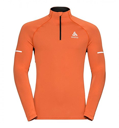Odlo Gilet Running Homme ZEROWEIGHT Course, Orangeade-Black, FR (Taille Fabricant : XL)