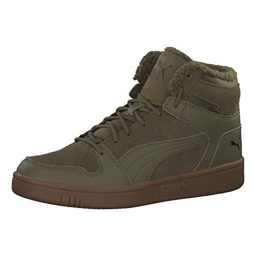 Puma Unisex-Erwachsene Rebound Layup Sd Fur Sneaker, (Burnt Olive-Puma Black-Gum 03), 39 EU