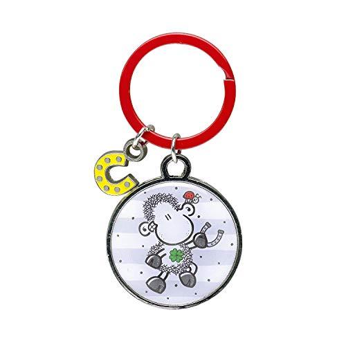 Sheepworld 46665 sleutelhanger geluksbrenger, met bedel in hoefijzervorm hanger, meerkleurig, lengte van de hanger ca. 7,2 cm.