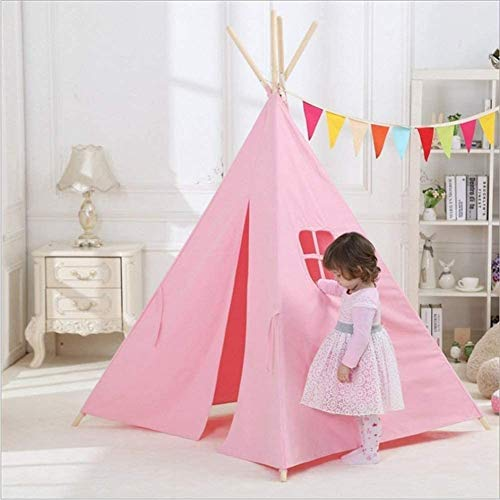 DXQDXQ Tent Children Tent Household Items Cotton Foldable Removable and Washable Children's Play House Infants (0-2 Years Old) Portable (Color : Pink)