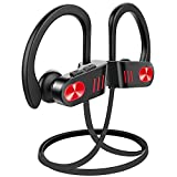 Wireless Headphones Bluetooth, Up to 9 Hrs Playing Time IPX7 Waterproof Running Headphones