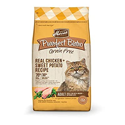 Merrick Purrfect Bistro Grain Free Real Chicken Adult Dry Cat Food, 4 Lbs.