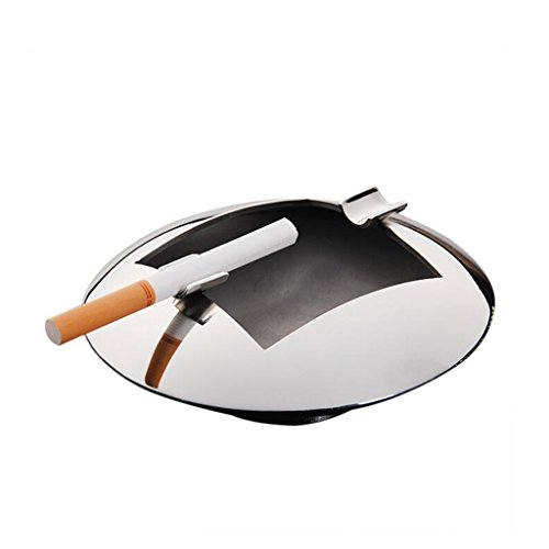 KAI LE Cenicero de Metal de Acero Inoxidable Forma de UFO Aumento del Engrosamiento Barra de Inicio Fuentes de KTV Cenicero Simple