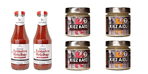 Veganer Ketchup und Mayonnaise Mix mit 3 Highlights aus dem LAUX Ketchup&Mayo Sortiment