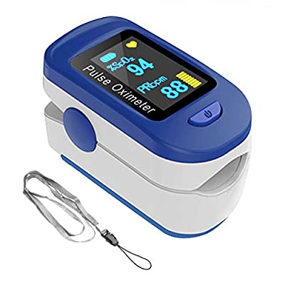 2020 Finger Oxygen Saturation Monitor and Heart Rate Monitors with Lanyard for Sports or Aviation Use Only (Non-Medical use)-Battery Included