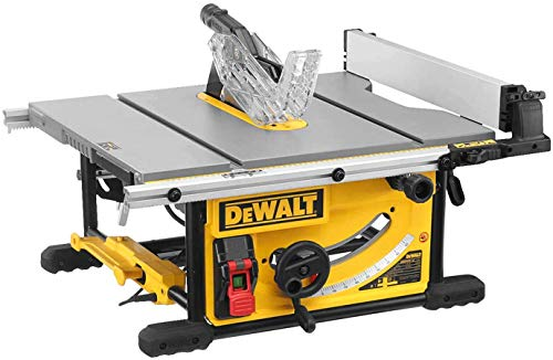 Dewalt Tischkreissäge DWE7492 (2.000 Watt, 250 mm, 77 mm max. Schnittbereich, beidseitiger Parallelanschlag, mit Staubabsaugung, inkl. HM-Sägeblatt, Schiebestock, Montagewerkzeug, Werkstückanschlag)