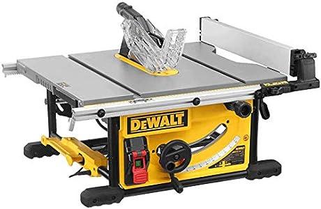 DeWALT DWE7492-QS DWE7492-QS-Sierra de Mesa 2.000W-Ø250mm-Mesa 670x630mm-Electrónica-Portátil, Negro/Amarillo, 2.000 W