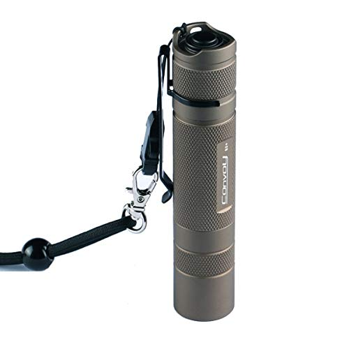 Convoy S2+ - Linterna LED de aleación de aluminio resistente al agua...