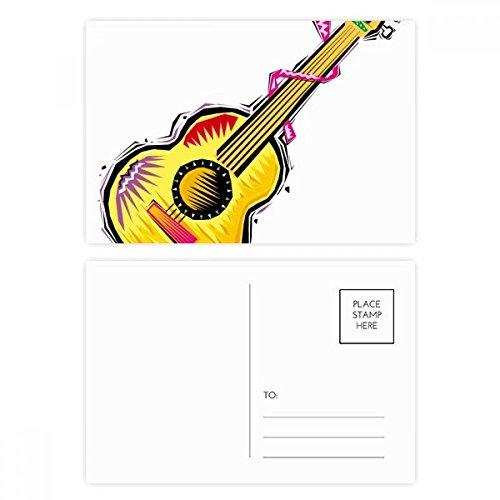 DIYthinker Instrument Gitaar Mexicon Element Illustratie Postkaart Set Verjaardag Thanks Card Mailing Side 20 stks 5.7 inch x 3.8 inch Multi kleuren