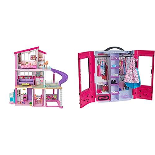 Barbie La Casa De Tus Sueños, Casa De Muñecas (Mattel Fhy73) + Mattel Fashionista Armario Fashion, Accesorios De Muñecas, Regalo para Niñas Y Niños 3-9 Años ( Dmt57)