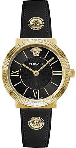 Versace - Orologio da polso da donna Glam.Lady 36 D/BLK S/BLK IP2N V291 VEVE003 19