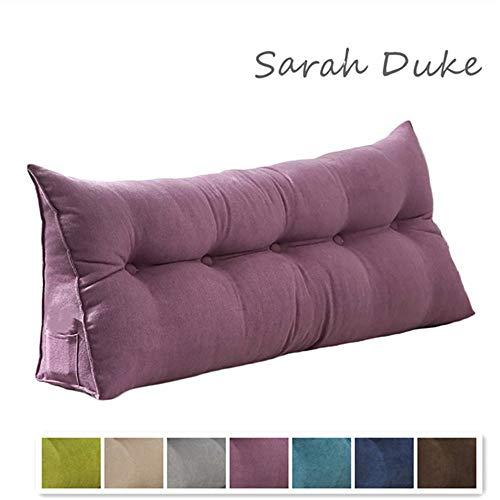 Sarah Duke Dreieckige Keil Kissen, bettsitzkissen Kissen Rückenkisse Polstermöbel, Bett-Rückenstütze Keilform, für Sofa Bett Couch Wohn und Schlafzimmer (Violett,60 X 20 X 50cm)
