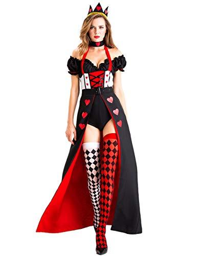 LaLaAreal Damen Königin der Herzen Kostüm Gr. X-Large, Schwarz
