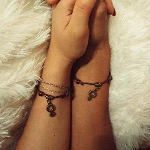 Damenarmband Armbänder Armband,Mode Persönlichen Charme Jungen & Mädchen Armband Vintage Schmuck Handgemachte Kaffee Seil Kette Männlich Weiblich Symbole Paar Armbänder Für Liebhaber Männer Frauen